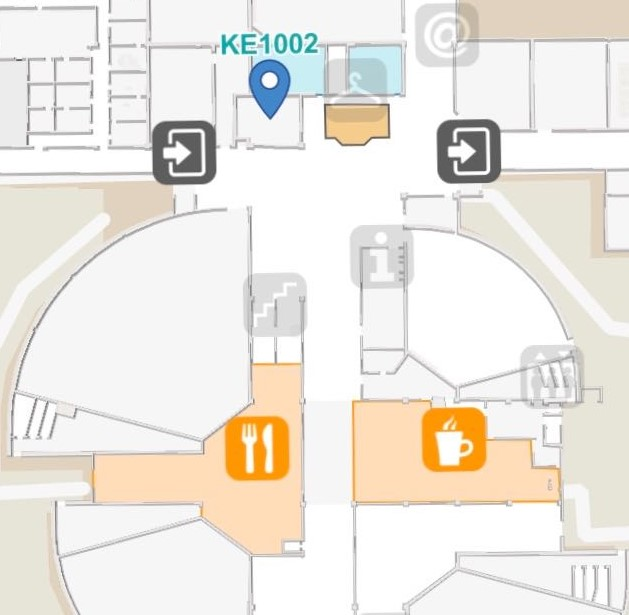 map of the central lobby